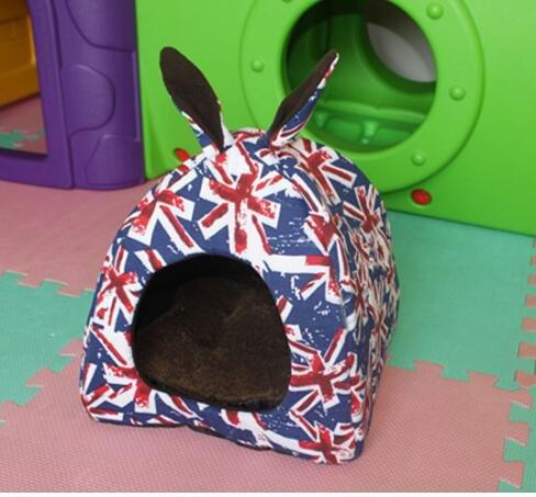 DOUERDOUYUU Großes Geschenk Heimtierbedarf Closed Style Yurt Modell Warme Haustiere Nest Pet Supplies Blau M Banner