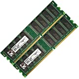 Low Density 2GB (2x1GB) DDR-333 PC2700 Non-ECC Desktop PC Memory RAM 184-pin from DrMemory All tested with ramcheck