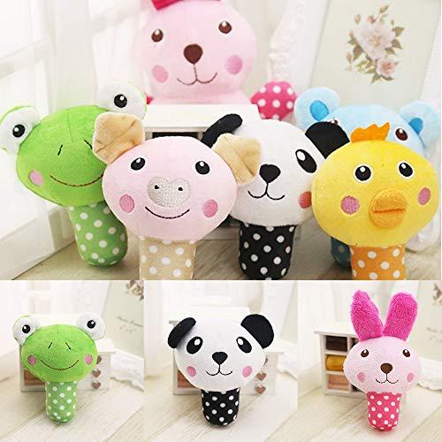 Erduo Durable Pets Plüsch Sound Quietschende Spielzeug Cute Animal Shape Gefüllte Ausbildung Kauen Spielzeug Kinder Vocal Animal Spielzeug - schwarz & weiß -