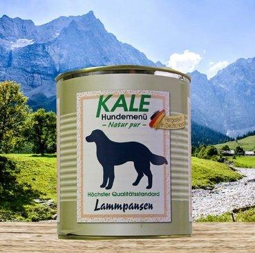 KALE Hundefutter Nassfutter Lammpansen (6 x 800g)