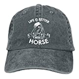 Life is Better with A Horse-1 Vintage Jeans Baseball Cap for Men and Women