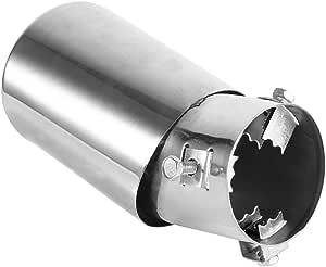 Keenso 62mm Universal Hinten Auto Auspuff Schalldämpfer Rohr End Tipp Edelstahl Auspuff Endrohr Trim Tipp Auto