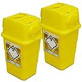 Qualicare Sharps Safe Abwurfbehälter für Spritzen und Kanülen, 1 Liter, 2 Stück
