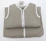 Fashion&Joy Baby Schlafsack aus 100% Baumwolle Punkte in Taupe 110 cm Babyschlafsack leicht gefüttert atmungsaktiv Ganzjahres-Schlafsack Kleinkind Unisex beige Typ373