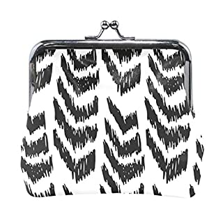 MALPLENA Hand Drawn Style Arrows change purse for women leather purse