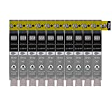 10 Druckerpatronen kompatibel zu CLI-551GY Grau für Canon Pixma MG6350 MG7150 IP8750