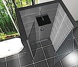 Duschtür aus NANO versiegeltem Sicherheitsglas für Nischenbreiten 850mm-880mm Nanobeschichtung Duschwand Türbeschläge aus Aluminium Glastür Dusche Duschkabine Duschabtrennung Duschtüre Pendeltür Nischentür Duschtür Schwingtür Test