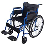 All AID Footrest Self Propelled Folding Lightweight Transit Comfort Wheelchair