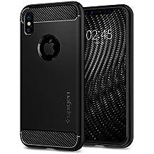 Coque iPhone X, Spigen® [Rugged Armor] Résistance Extrême [Noir] Protection Ultime Anti-Choc Coque pour Apple iPhone X (2017) - (057CS22125)