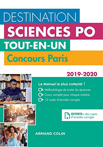 Destination Sciences Po - Concours Paris 2019-2020 - Tout-en-un par Laurent Gayard