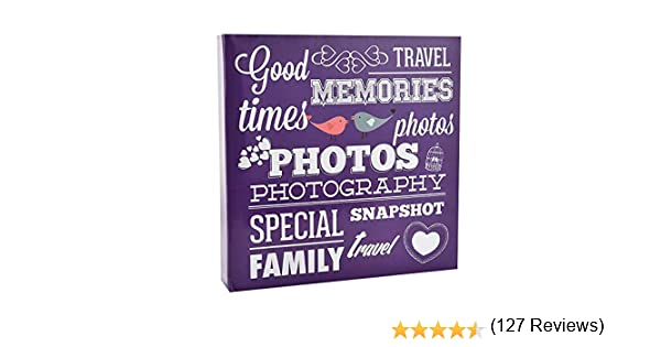 10 x 15 cm ARPAN 34 x 33 cm Colore Nero Album Grande per 500 Foto