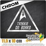 KIWISTAR Trekkie on Board - inside 11,5 x 10 cm IN 15 FARBEN - Neon + Chrom! Sticker Aufkleber