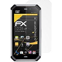 3 x atFoliX Película Protectora Caterpillar CAT S50 Lámina Protectora de Pantalla - FX-Antireflex anti-reflectante