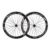 SAVA Fahrradräder 50mm Aerodynamik TORAY T800 Full Carbon Felge 700C Radsport Rennrad Drahtreifen 20/24 Löcher Vierlagernde Nabe Laufräder