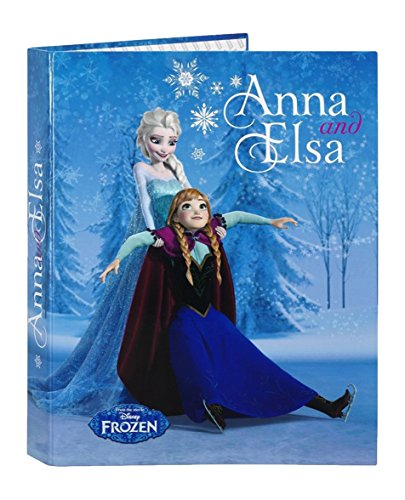 Frozen - Carpeta con 4 anillas mixtas, color azul (Safta 511615067)