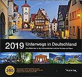 Tischkalender Unterwegs in Deutschland 2019: 365-Tage Spiralaufsteller in Geschenkbox