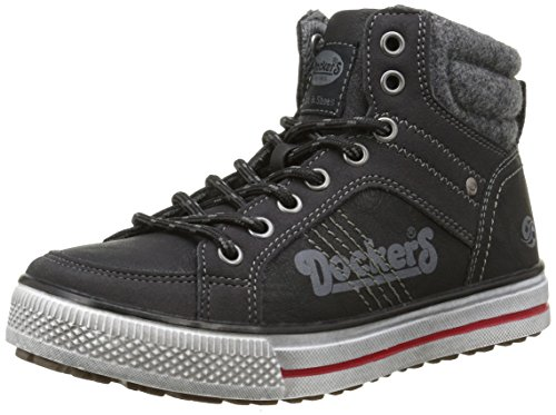 Dockers by Gerli Unisex-Kinder 37NC701-652 High-Top, Schwarz (Schwarz 100), 37 EU