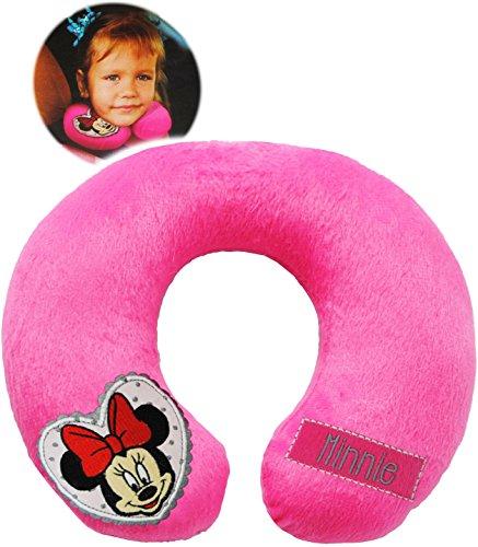 Unbekannt Nackenkissen / Nackenrolle -  Disney Minnie Mouse  - Kissen für Auto / Kindersitz - Reisekissen / Reisehörnchen - z.B. Flugzeug / Auto - Zugfahrt - Nacken -..