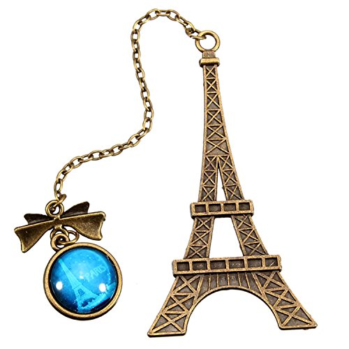 Di Grazia Paris Eiffel Tower Metal Bookmark, Pendant Charm, Page Holder Charm...
