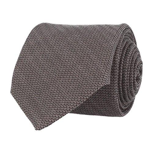 Baldessarini classico Cravatta in lana a spina di pesce grigio