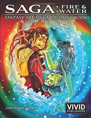 Saga: Fire & Water: Fantasy Art Adult Coloring Book por Vivid Publishers
