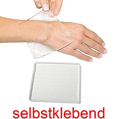Druckschutzplatte Kosmetex aus Gel selbstklebend, quadratisch, dick, klar, 4mm ()