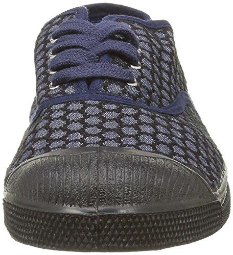 Bensimon - Tennis Brode, Sneaker Donna Blu (Bleu(516 Marine))