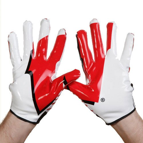 adidas Wisconsin Badgers Adizero Swagger Handschuhe, rot, X-Large -