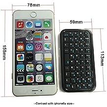 BK103 Mini Teclado inalámbrico para Movíles Teléfonos iPhone BQ Samsung Color Negro