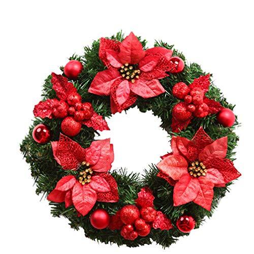 Ghirlande corona di natale corona rossa corona di natale decorazione pendente corona decorativa vite di natale 40cm