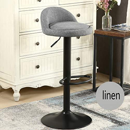 Oase Möbel (Muss eine Oase sein Hebe Drehstuhl hoher Fuß Barhocker Moderne minimalistische Brille Juweliergeschäft Rezeption Barhocker (Color : Gray))