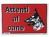 PUBBLICENTRO SPA CART. 'ATTENTI AL CANE' 20X30PL