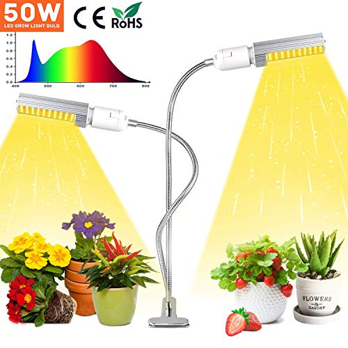 Garden & Patio Compact E27 E26 LED Grow Light Plant Culturing Lamp For Indoor Desk Flowers 77E