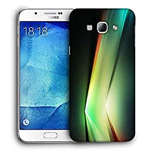 Snoogg Multicolor V Shape Design Printed Protective Phone Back Case Cover For Samsung Galaxy A8