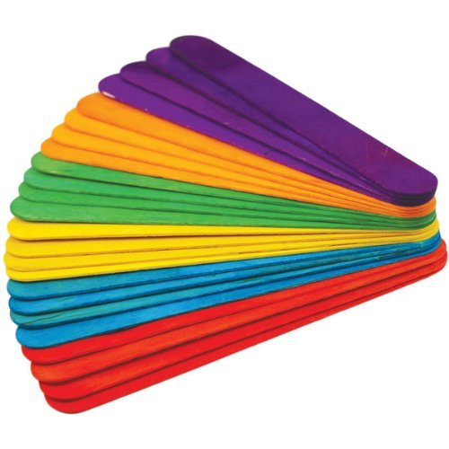 Extra Jumbo Craft Sticks-Colored 7-7/8 24/Pkg by Multicraft Imports
