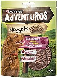 Purina Adventuros Snack Cane Nuggets al Gusto Cinghiale - 6 Buste da 90 g Ciascuna