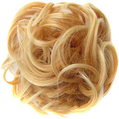 Zolimx Haarteil Haargummi Hochsteckfrisuren unordentlicher Dutt gewellt Stilvolle Haar Kreis Frauen Mädchen Haar Kreis Gummibänder -
