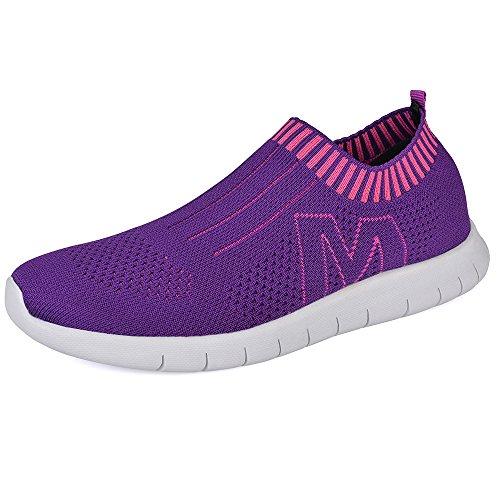QANSI Chaussure de sport Réspirant et Légère Chaussure de Running Basket Mode Pour Femme Violet