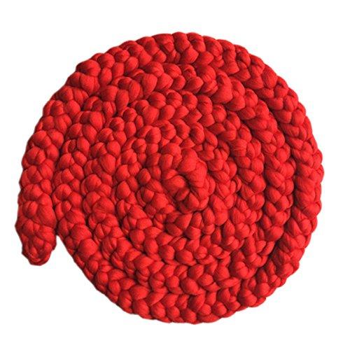 Happy Cherry Baby Fotografie Neugeborenen Fotoshooting wickeln Requisiten Strickstoff Stretch Teppich Foto Prop-6-12 Monate-Rot