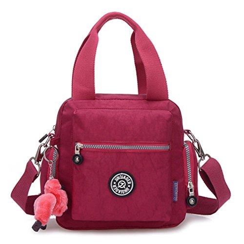 Nylon Niedlich Damen Handtaschen, Hobo-Bags, Schultertaschen, Beutel, Beuteltaschen, Trend-Bags, Velours, Veloursleder, Wildleder, Tasche Mehrfarbig 5 Keshi