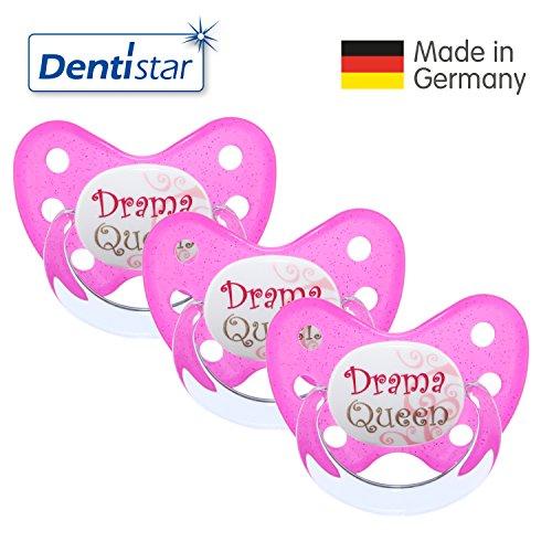 Dentistar Schnuller 3er Set- Nuckel Silikon in Größe 3, ab 14 Monate - zahnfreundlich & kiefergerecht - Beruhigungssauger für Babys -...