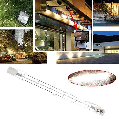 Mingruie Lumières d'inondation à double extrémité des ampoules R7S d'halogène de T3 220-240v 118MM, 150W