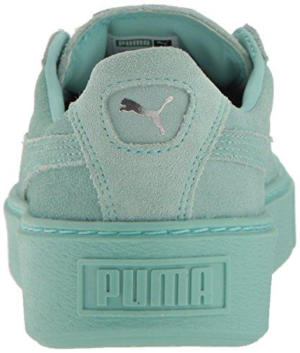 Puma Damen Basket Platform Sneaker Metallizzato Aruba Blu-aruba Blu