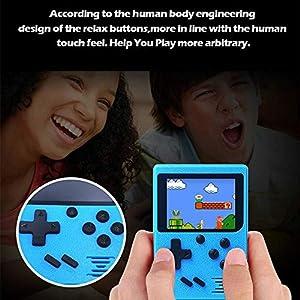 QXKMZ 2,4-Zoll-LCD-8-Bit-Handheld-Handheld-Spielkonsole Video-Konsole, 80Er Jahre Arcade-Spielkonsole Mit 129…