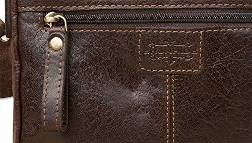 Brunhide # 144-300 - Borsa satchel piccola da donna - vera pelle di bufalo Marrone scuro Comprar Barato Encontrar Un Gran Venta De Muchos Tipos De AVcYiG