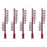 Lantelme 5135 5 pezzi Set da giardino - Termometro esterno. Giardino Termometro di produzione tedesca Analog plastica, colore: rosso