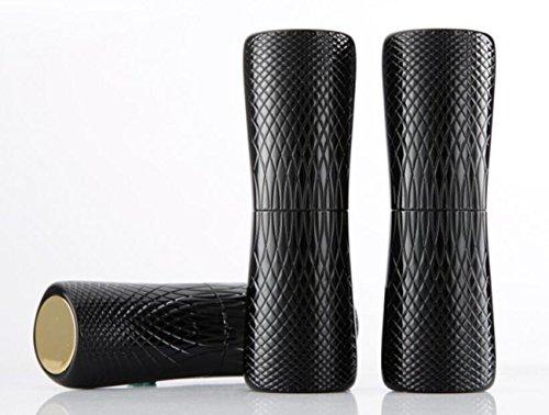 Bingpong 12,1mm Luxus Mini Schwarz Schlangenhaut Textur Leere Nachfüllbare Lippenstifte Tubes DIY Kosmetische Behälter Verpackung Werkzeuge (10pcs) (Hausgemachte Werkzeuge)