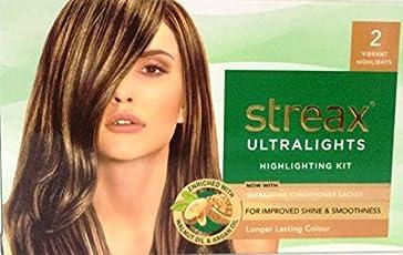 Streax Hair Colour Ultra Light 2 Vibrant Blonde, 10g+20ml+4Nx5ml