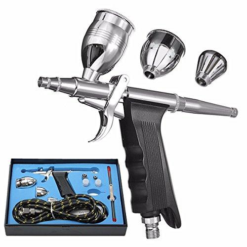 MASUNN Doppel-Aktion Airbrush Gun Kit Pneumatische Pistole Set mit Airbrush-Schlauch und Spritzpistole