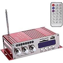 WINGONEER 12V Hi-Fi stereo amplificatore audio digitale USB SD DVD FM Audio Radio stereo MP3 altoparlante per auto Bluetooth amplificatore Hi-Fi Mini 2 Channel Digital Display Player potere per iPod / automobile / barca / moto - Amplificatore Di Alimentazione Di Progettazione